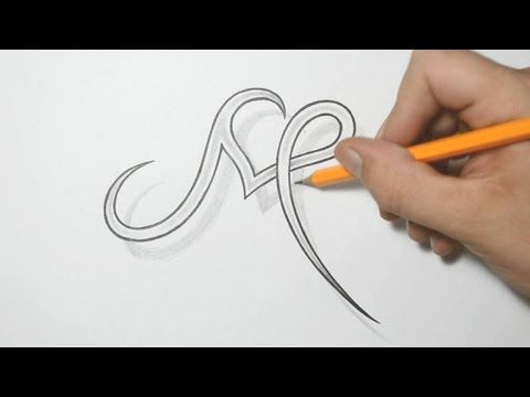 Letter M and Heart Combined - Tattoo Design Ideas for Initials - YouTube