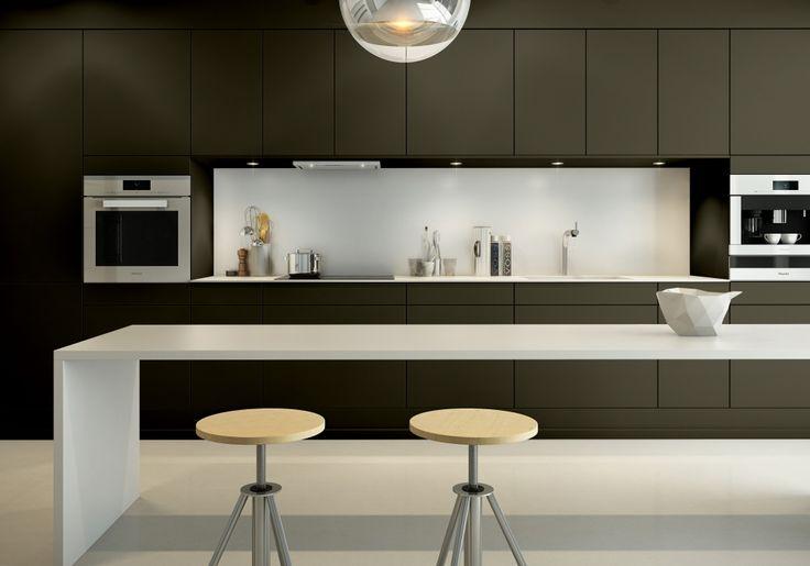 Sigdal kjøkken - Amfi Eik, NCS S 7005 G80Y, åker og eng