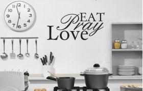 Eat Pray Love vinyl wall poetry