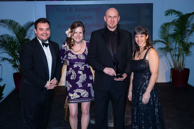 South West Tourism Awards with Lloyd Giriffith picking up Gold award 2013