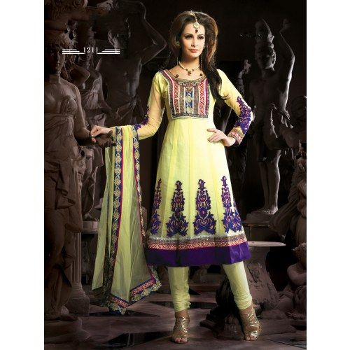 Online Stylist Indian Anarkali Salwar Kameez for beautiful lady-Salwar Suits Shopping at Surat Sarees