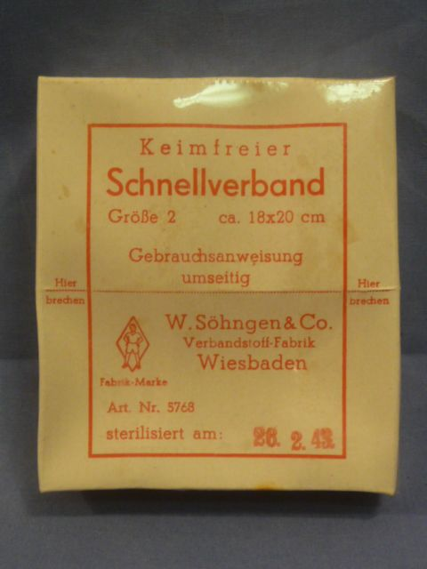 Original WWII German Germ Free Medical Bandage