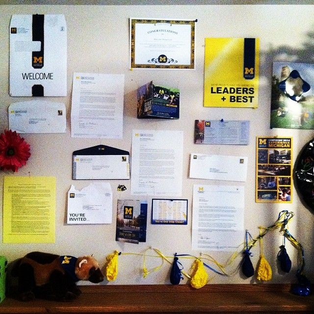 Anyone else save their #UMich letters?