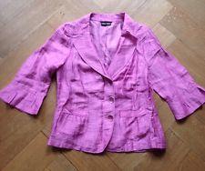 Neuwertig! Gerry Weber Blazer Bluse Jacke Rosa Pink Lila Violett Leinen 40 42