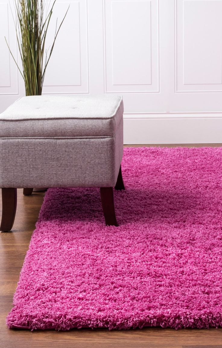 Hot Pink Shag Rug | Contemporary Style For Living Rooms & Bedrooms