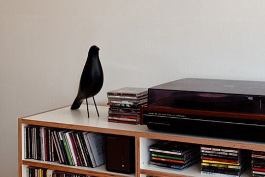 The small decorative black bird is considered one of the most famous Eames pieces, even though it wasn't designed by Eames at all.