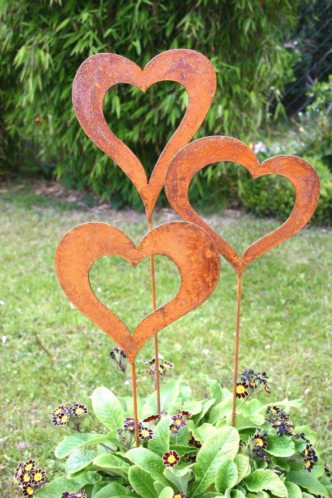 Die besten 25 gartenstecker rost ideen auf pinterest for Gartenskulpturen metall rost