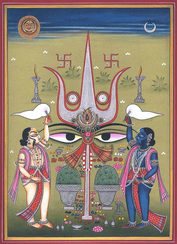 Trident Worship by Kailash Raj