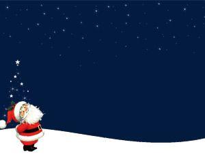 Papa Noel en la noche es una de las plantillas más votadas, puedes descargarla completamente gratis