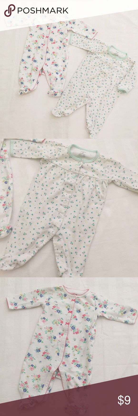 Carter's baby girl one piece (2-pic-bundle) SZ 3M In good condition. Very cute. Size 3M.                                                                      🌹Welcome to bundle anything in my closet.                                             ❌no trade ❌no lowballing offers!!! Carter's One Pieces