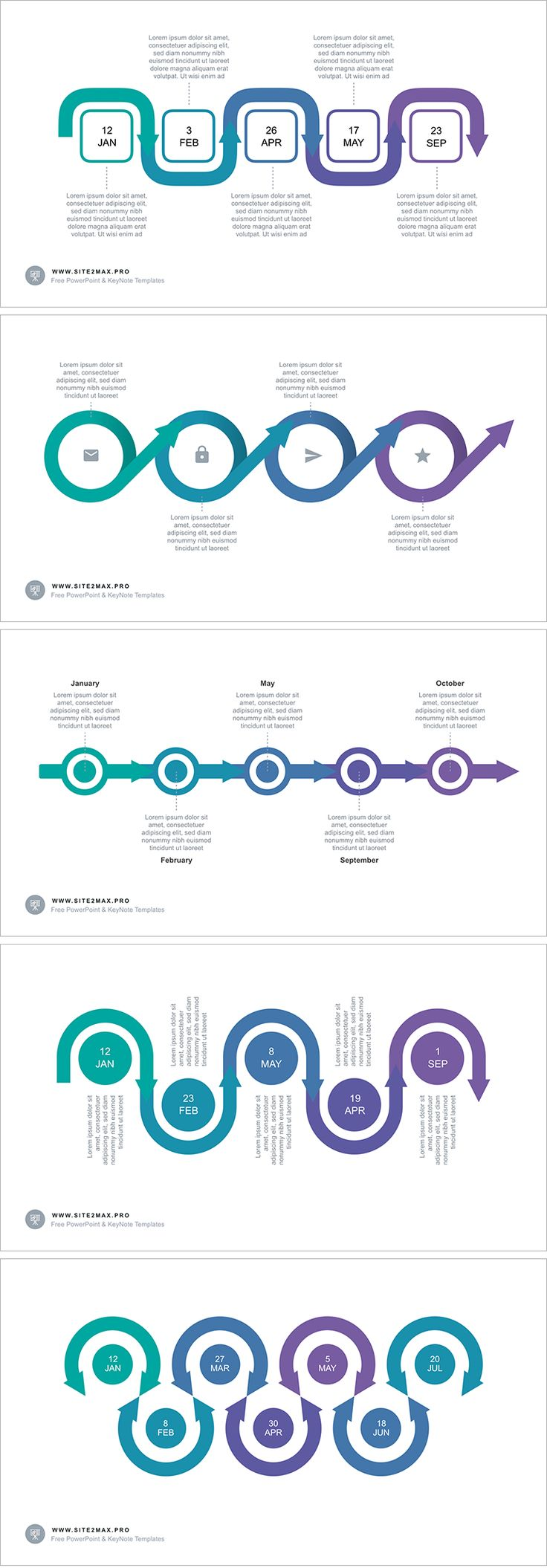 Download: https://hislide.io/product/timeline-arrow-ppt-type-2/ Timeline Arrow free PowerPoint template #timeline #powerpoint #ppt #pptx #step #violet #infographic #marketing