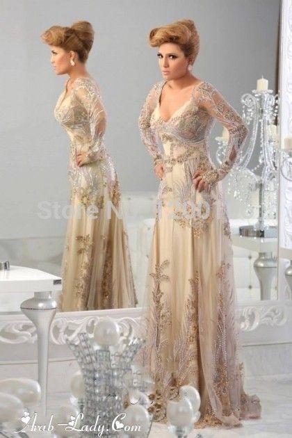 Блестящие v-образным вырезом абая дубай Vestido с длинным рукавом вечерние платья с бусины блестки 2015 Jajja кутюр