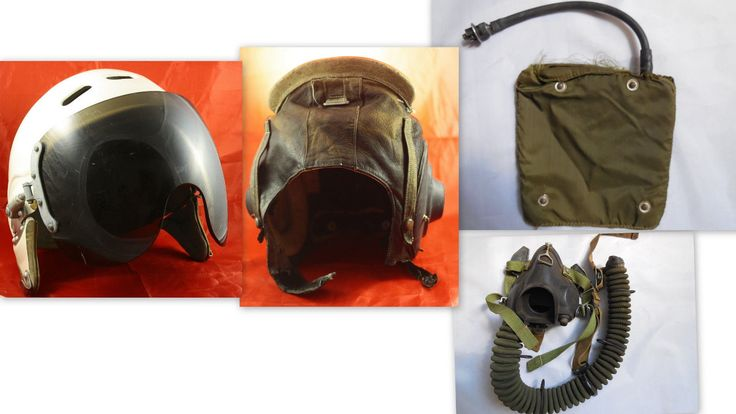 Two old soviet ussr air force #pilot helmet #zsh-3m + #leather ,  View more on the LINK: 	http://www.zeppy.io/product/gb/2/162155727362/