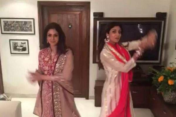 Shilpa Shetty and Sridevi shake a leg on Karva Chauth