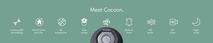 Cocoon All-In-One Home Security System. Smartphone controlled whole home security. Unique Subsound® Technology, HD camera, Motion Detector, Built-In Siren: Amazon.co.uk: Electronics