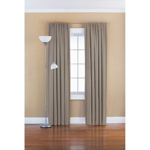 Mainstays Solid Room Darkening Curtain Panel