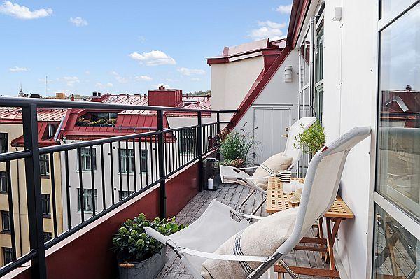 Attic roof terrace