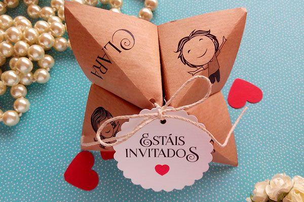Invitaciones de boda muy originales.