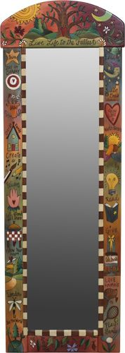 #Painted #Mirror #Frames Rounded Wall Mount http://www.mycraftkingdom.com