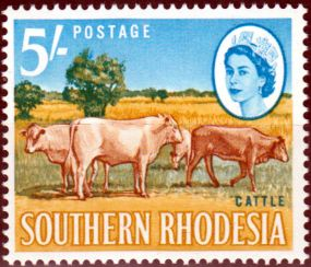 Southern Rhodesia 1964 QE II SG 104 Guineafowl Fine Mint Scott 107 Other Rhodesian Stamps HERE