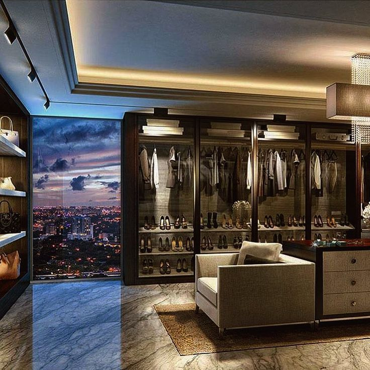 super modern penthouse walk in closet