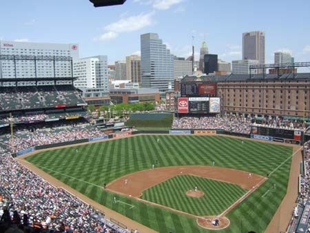 Baltimore Orioles Stadium. Checked off the my bucket list item of seeing every MLB stadium in the US.