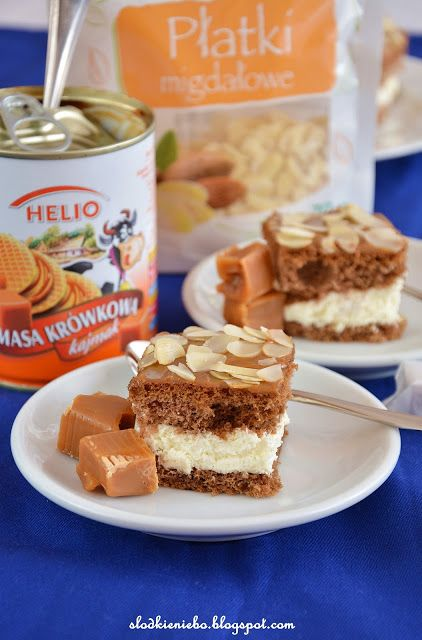 Słodkie niebo: Ciasto Krówka na biszkopcie z bitą śmietaną