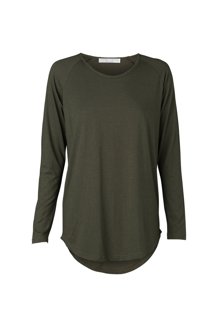Hale Raglan Top. 100% Cotton. Military green. Perfect for winter layering. To Shop: https://shop.marvaldesigns.com.au/hale-raglan/dp/9299