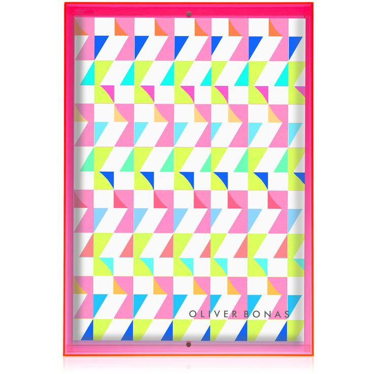 Buy A3 Pink Acrylic Neon Block Wall Frame from Oliver Bonas