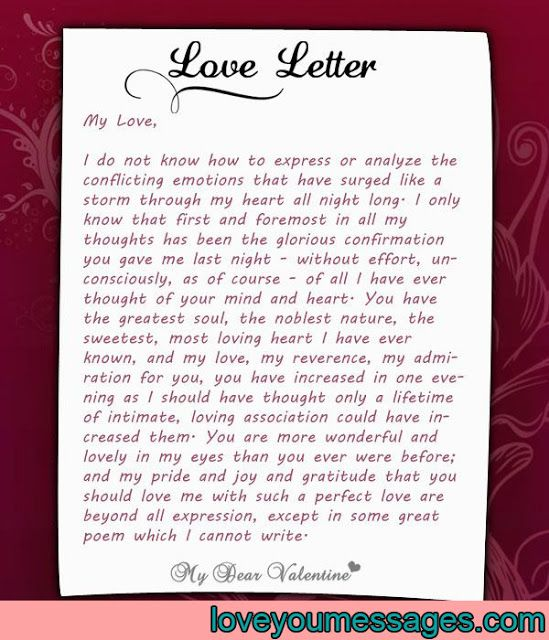 best valentine letter for her