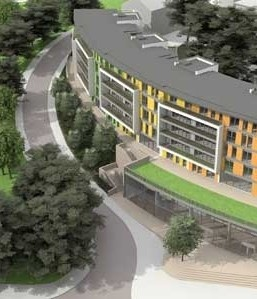 The regeneration of Bournemouth town centre has passed a significant milestone as an official turf cutting heralded the formal start of building work on a five-storey apartment block.