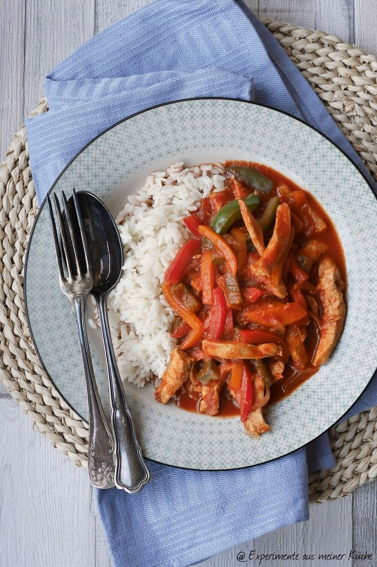 Experimente aus meiner Küche: Schnelles Pfannenschaschlik mit Reis