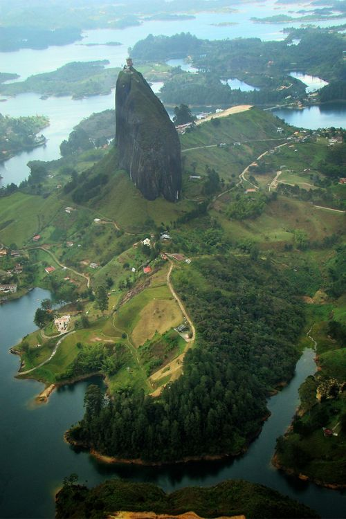 Guatape Piedra, in Antioquia, Colombia   #travel #places #beautiful #cute #cool #trip #holidays #vacation #sea #see #pictureoftheday #backpackers #amazing #viajar #viajes #viatges #lugares #nqf