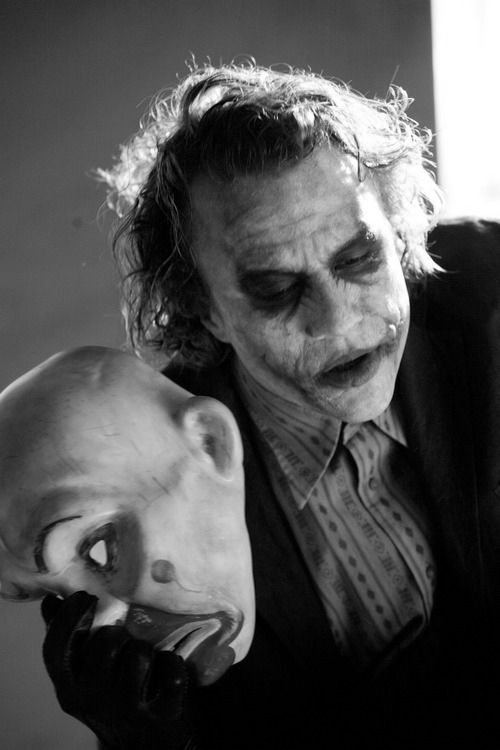 Heath Ledger - The Joker. A haunting and beautiful reimagining of Pop Cultures most infamous villain.