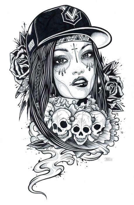 skull badgirl