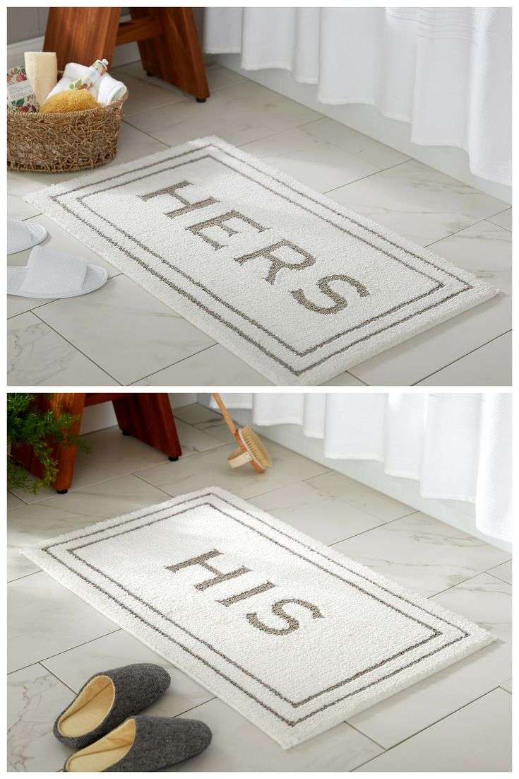 A Perfect Gift For Newlyweds Or Your Favorite Couple This Holiday Season,  Mohawk Home Cotton His + Hers Bath Mats!