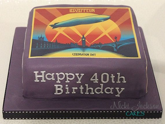 led zeppelin themed cake 🎶🎂 celebration day album cover