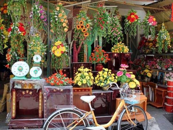 Цветочный рынок.Вьетнам.