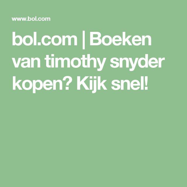 bol.com | Boeken van timothy snyder kopen? Kijk snel!