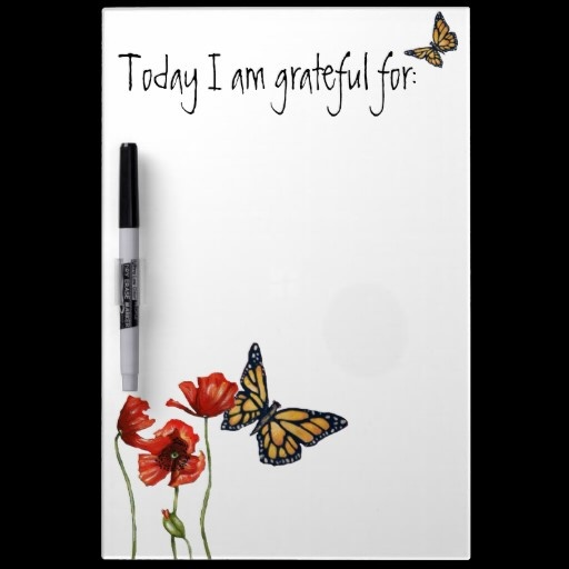 Give a gift this Christmas that keeps on giving...Gratitude Reminder List for Your Fridge Dry-Erase Board