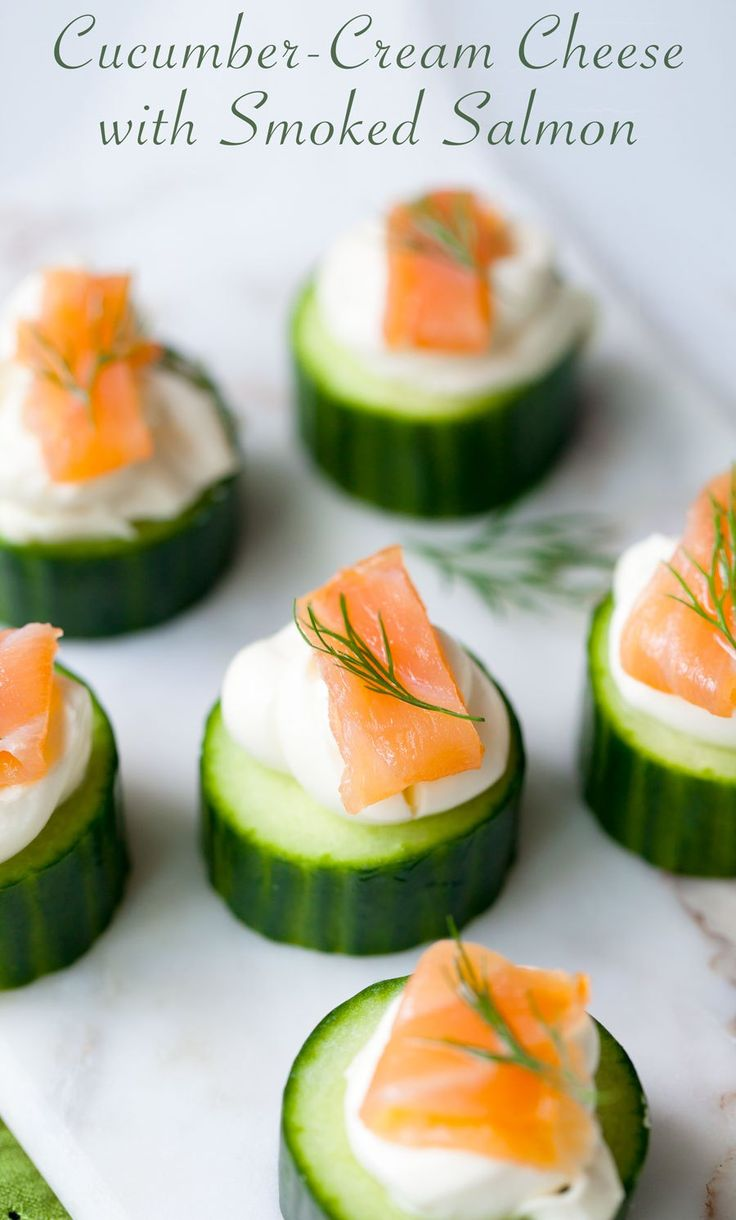 cucumber & smoked salmon hor d'oeuvres