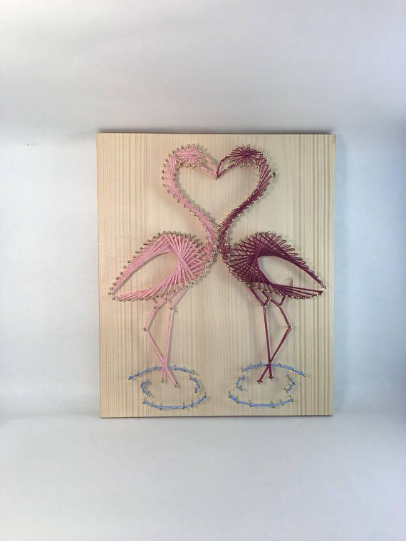 String Art Pink flamingos Unique decoration gor Baby