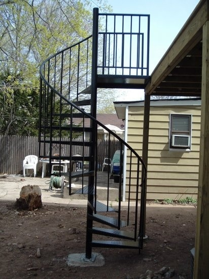 12 best images about garage ideas on pinterest sheds - Exterior metal spiral staircase cost ...