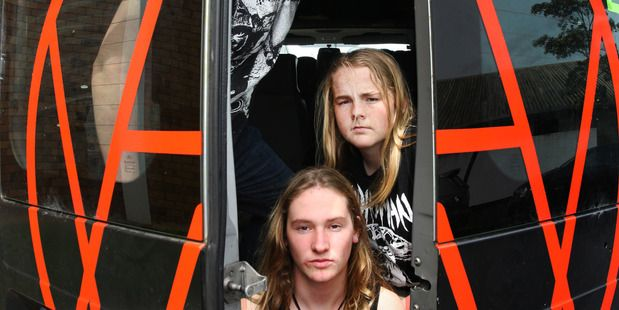 Teenage Waipu thrash metal band Alien Weaponry have released a debut single. Photo / Tania Whyte