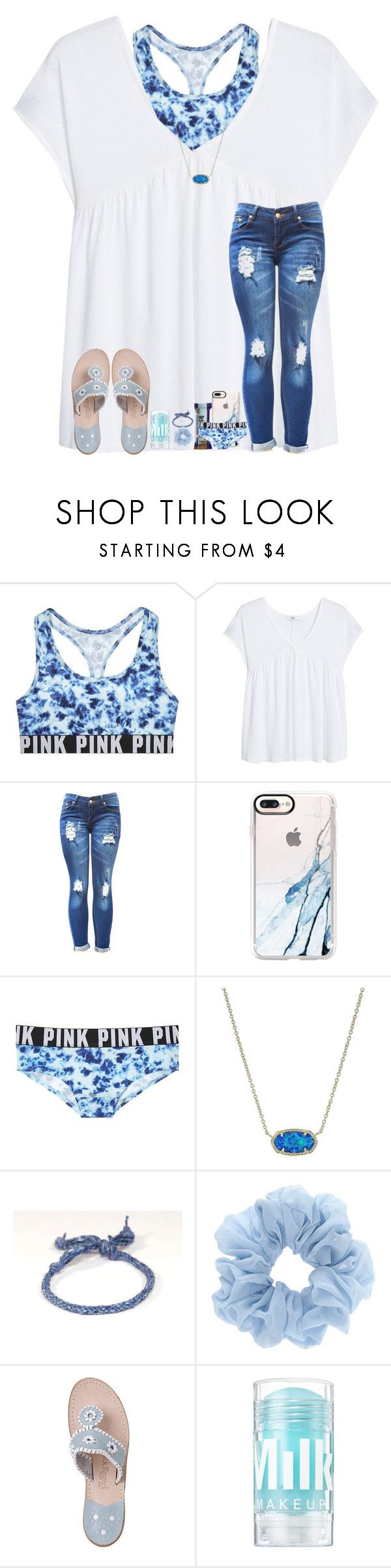 """""""Blue contest"""" by arieannahicks on Polyvore featuring Victoria's Secret, MANGO, Casetify, Kendra Scott and Jack Rogers"""