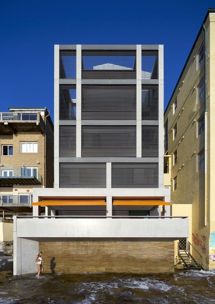 Tobias Partners - Deepwater House Beach-facing facade