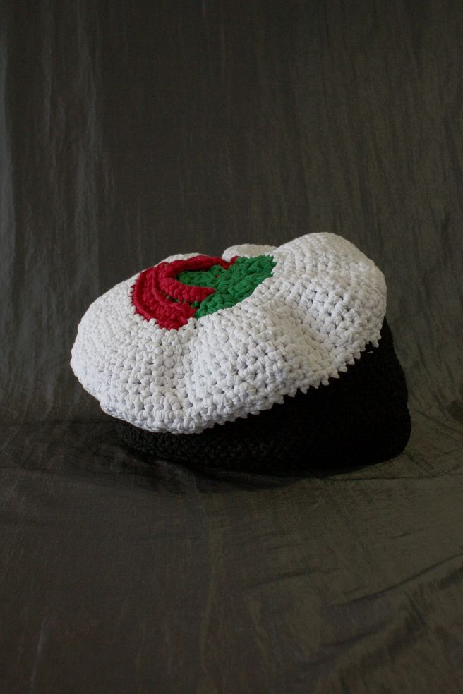 Crocheted sushi made by Lumi