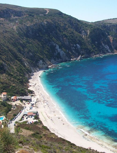 The beaches on the west coast of Kefalonia island