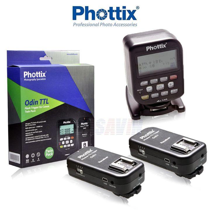 Phottix Odin Wireless Flash Trigger and Receiver Twin Pack FOR CANON XSi XT XTi #PhottixOdin