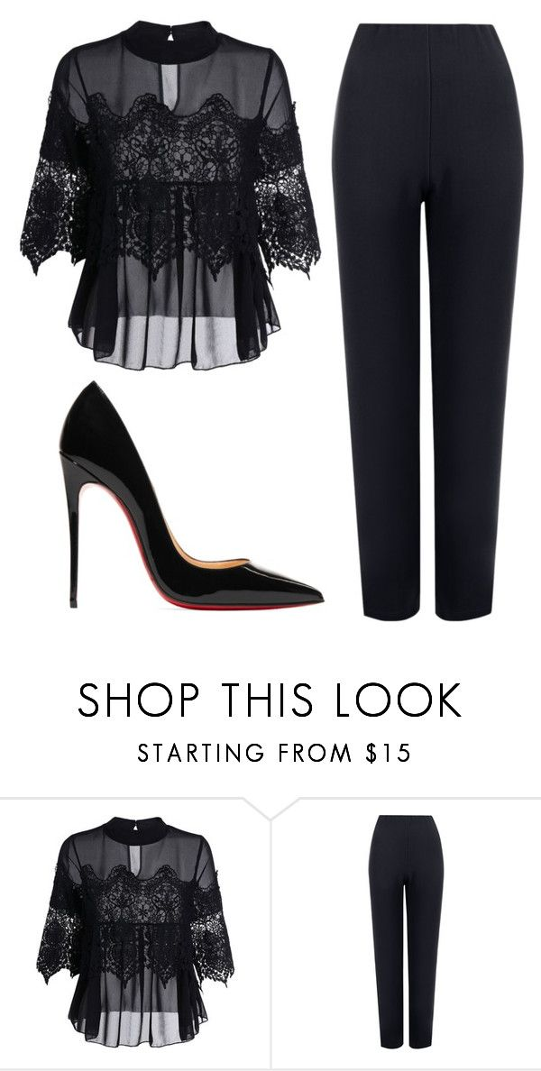 """Sem título #8682"" by ana-sheeran-styles ❤ liked on Polyvore featuring WearAll and Christian Louboutin"
